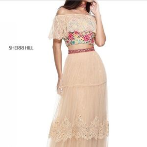2 piece prom dress Sherri Hill 51022